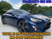 2014 TOYOTA 86 2.0 GT FASTBACK COUPE FRS RWD ORI PAINT NICE NUMBER