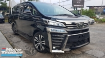 2018 TOYOTA VELLFIRE 2018 Toyota Vellfire 2.5 ZG New Facelift Sun Roof Full Leather Power Door Pre Crash LTA 3 LED Unregister for sale