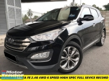 2016 HYUNDAI SANTA FE 2.4G HIGH SPEC FULL SEVICE RECORD LOW MILES SUNROOF PUST START 7 SEATTHER