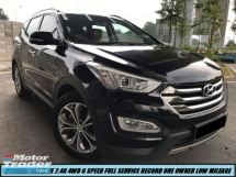 2016 HYUNDAI SANTA FE 2.4GLS 4WD PREMIUM LOW MILEAGE PANORAMIC KEYLESS FULL SERVICE RECORD SHOWROOM CONDITION LIKE NEW CAR