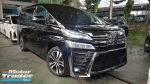 2018 TOYOTA VELLFIRE 2018 Toyota Vellfire 2.5 ZG New Facelift Full Leather Pilot Seat Pre Crash LTA System Unregister for sale