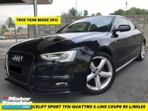 2012 AUDI A5 2.0 TFSI QUATTRO S-LINE FACELIFT  SPORT 8 SPEED TRUE YEAR MADE TIP TOP ONE DOCTOR OWNER