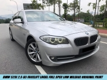 2013 BMW 5 SERIES 523I Local Full Spec Facelift Low Mileage One Owner
