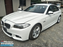 2014 BMW 5 SERIES 2.0 M SPORT REVERSE CAMERA SPORT MODE MEMORY SEATS PADDLE SHIFT FREE WARRANTY LOCAL AP