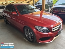 2015 MERCEDES-BENZ C-CLASS C200 CGI AMG Japan Spec Rear Camera Local AP Unreg