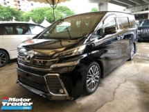2015 TOYOTA VELLFIRE Unreg Toyota Vellfire ZG 2.5 Pilot 7seats 360view PowerBoot Keyless Push Start 7G