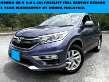 2015 HONDA CR-V 2.0 L (A) CRV FACRLIFT MODEL PUSH START 5 YEAR WARRANTY BY HONDA MALAYSIA