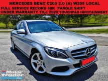 2016 MERCEDES-BENZ C-CLASS C200 W205 CGI LOCAL 2.0 SEDAN (A) FULL SERVICE RECORD UNDER WARRANTY PADDLE SHIFT TOUCHPAD INFO