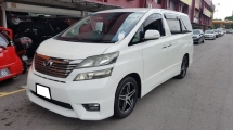 2010 TOYOTA VELLFIRE 2.4 VVTI (A) REG 2013, Z PLATINIUM MODEL, CAREFUL OWNER, LOW MILEAGE DONE 80K KM, SELDOM USE, 18