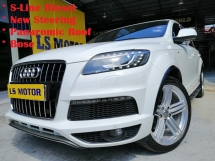 2010 AUDI Q7 3.0 TDI QUATTRO AUTO EURO 5 DIESEL -S-LINE FACELIFT 8SPEED -PANAROMIC ROOF - POWER BOOT - AIR MATIC - MEMORY SEAT - BOSE SOUND SYSTEM - NAPPA LEATHER - 4NEW TYRE -