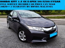 2015 HONDA CITY 1.5 FULL SERVICE RECORD 50KM 5 YEAR WARRANTY BY HONDA MALAYSIA  PUSH START FULL BODYKIT