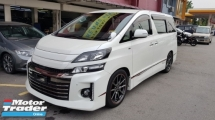 2013 TOYOTA VELLFIRE 2.4 VVTI (A) GS MODEL, REG 2016, ONE CAREFUL OWNER, ORIGINAL GS CONDITION, HOME THEATER SURROUND SYSTEM, LOW MILEAGE DONE 60K KM, 18