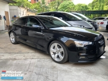 2014 AUDI A5 2.0 Turbocharged S Line Sport Back MMi 3 Sun Roof Push Start Button Auto Power Bucket Seats Multi Function Paddle Shift Steering Climate Zone Control Bluetooth Connectivity Unreg