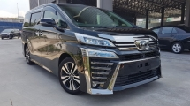 2018 TOYOTA VELLFIRE 2018 Toyota Vellfire 2.5 ZG New Facelift Sun Roof JBL Home Theater System 4 Camera full Leather Pre Crash LTA BSM Unregister for sale