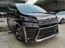 2018 TOYOTA VELLFIRE 2.5ZG BLACK SUNROOF DIM ALPINE ROOF UNREG