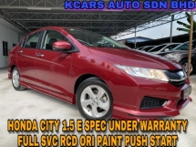2017 HONDA CITY 1.5E UNDER WARRANTY HONDA