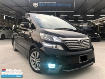 2011 TOYOTA VELLFIRE 2.4 Z PLATINUM, 7 SEATER, 2 POWER DOOR, POWER BOOT, NEW FACELIFT, OFFER RAYA SPECIAL, LIKE NEW CONDITION, WARRANTY PROVIDED