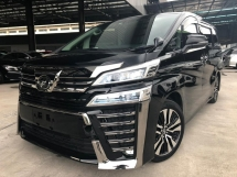 2018 TOYOTA VELLFIRE 2.5ZG Edition SUNROOF AND LEATHER UNREGISTER