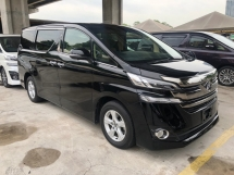 2016 TOYOTA VELLFIRE 2.5 2AR-FE Dual VVT-i 7 SCVT-i 360 Surround Camera Automatic Power Boot 2 Power Door Intelligent Bi LED Smart Entry Push Start 3 Zone Climate Control 9 Air Bag Unreg