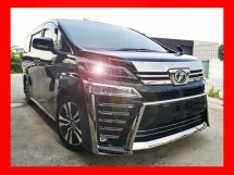 2018 TOYOTA VELLFIRE 2.5ZG NEW FACELIFT WITH SUNROOF AND ALPINE MONITOR - UNREG