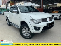 2013 MITSUBISHI TRITON 2.5 MT NEW FACELIFT TURBO CANOPY ONE OWNER NO OFF ROAD CAR MODEL