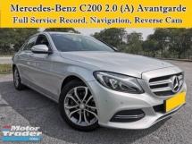 2015 MERCEDES-BENZ C-CLASS C200 w205 2.0 (A) Full Service Record Avantgarde