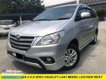 2016 TOYOTA INNOVA 2.0G G LIMITED EDITION  ONE MALAY LADY OWNER LOW MILES