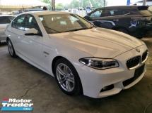2016 BMW 5 SERIES 2.0 TURBO M SPORT MEMORY SPORT SEATS LANE SENSOR AUTO CRUISE REVERSE CAMERA FL MODEL SPORT ECO MODE
