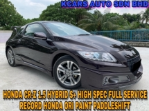 2014 HONDA CR-Z S+ FULL SVC RCD HONDA ORI PAINT PADDLESHIFT