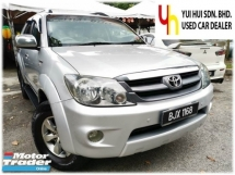 2008 TOYOTA FORTUNER 2008 Toyota FORTUNER 2.7 V FACELIFT (A) FULL LEATHER SEAT 1 OWNER