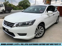 2016 HONDA ACCORD 2.0 VTI-L Full Spec Electronic/Leather Seat Low Mileage One Owner