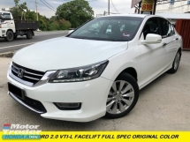 2017 HONDA ACCORD 2.0 VTI-L NAVI PALYER FULL LEATHER SEAT ORIGINAL PAINT WEEKEND USED ONLY SUPER TIP TOP CONDITION