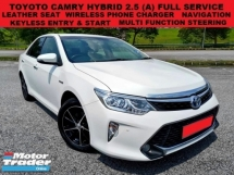 2015 TOYOTA CAMRY HYBRID 2.5 (A) SEDAN FULL SERVICE RECORD LEATHER SEAT KEYLESS ENTRY & START WIRELESS PHONE CHARGER N