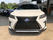 2016 LEXUS RX 200T F SPORT FULLSPEC.UNREGISTER.TRUE YEAR MADE CAN PROVE.SUNROOF.POWER BOOT.SPORT PADDLE SHIFT N BODYKIT.SIDE N REAR CAMERA.PRE CRASH SYSTEM.MEMORY SEAT N SPORT LEATHER.FREE WARRANTY N MANY GIFTS
