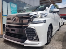 2017 TOYOTA VELLFIRE 2.5ZG Edition (UNREG) 2 ALPINE MODELISTA HIGH SPEC