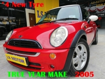 2005 MINI One COOPER 1.6 AUTO FACELIFT  - 1LADY OWNER- ACC FREE - 4NEW TYRE- FULL SERVICE RECORD - ORIGINAL MILEAGE 106K KM DONE ONLY- NON SMOKING OWNER - CASH N CARRY
