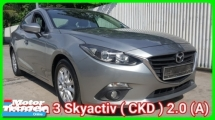 2016 MAZDA 3 CKD 2.0 SDN Skyactiv Confirm Accident Free Very Good Condition Guarantee No Repair Need Worth Buy