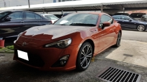 2014 TOYOTA 86 2.0 GT (A) REG 2018, ONE CAREFUL OWNER, KEY LESS, PUSH START, REVERSE CAMERA, LOW MILEAGE DONE 16K KM, 17
