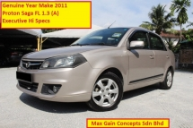 2011 PROTON SAGA FL 1.3 (A) New Facelift Executive Hi Specs (Ori Year Make 2011)(2 Airbags)