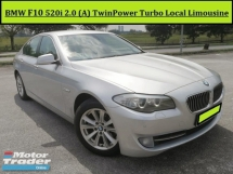 2012 BMW 5 SERIES 520I 2.0 (A) TwinPower Turbo F10 Facelift Local Spec Navigation Warranty