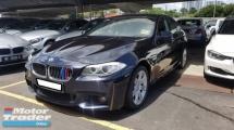 2013 BMW 5 SERIES 528I M-SPORTS 2.0cc (A) REG 2013, CKD MODEL, ONE LADY OWNER, FULL SERVICE RECORD, LOW MILEAGE DONE 58K KM, FREE 1 YEAR GMR CAR WARRANTY