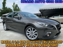 2015 MAZDA 3 CBU SPORT 2.0 SDN S/ROOF PADDLESHIFT ORI PAINT
