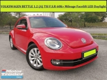 2013 VOLKSWAGEN BEETLE 1200L SE (A) 1.2 TSI FACELIFT LED DAYLIGHT F.S.R 60k+ LIMITED 1 OWNER FREE WARRANTY
