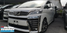 2018 TOYOTA VELLFIRE ZG 2.5 / SUNROOF / NAPPAL LEATHER / SUNROOF / PRE-CRASH / 4 YEARS WARRANTY