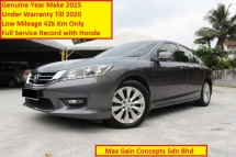 2015 HONDA ACCORD 2.0 (A) VTIL Ori Year Make 2015 (Under Warranty 2020)(Full Service Records)(1 Owner)