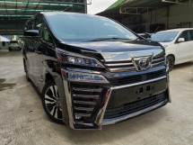 2018 TOYOTA VELLFIRE 2.5 ZG BLACK SUNROOF PRECRASH FACELIFT UNREG