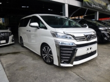 2018 TOYOTA VELLFIRE 2.5 ZG FULL SPEC NEW FACELIFT. GENUINE MILEAGE. HIGHEST GRADE CAR. PROVIDE WARRANTY. TOYOTA ALPHARD