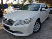 2013 TOYOTA CAMRY 2.0G VVTI ORIGINAL WHITE BLACK INTERIOR WITH ELECTRIC SEAT