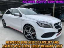 2016 MERCEDES-BENZ A-CLASS A250 AMG LIMITED SPORT-BACK UNDER WARRANTY