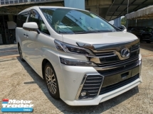 2016 TOYOTA VELLFIRE 2.5 Z G Leather Seater Unregister 1 YEAR WARRANTY